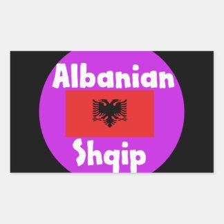 Albania Language And Flag Design Sticker