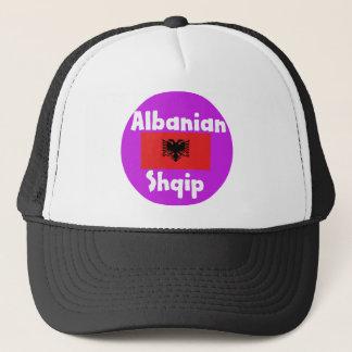 Albania Language And Flag Design Trucker Hat