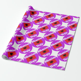 Albania Language And Flag Design Wrapping Paper