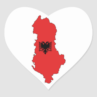 Albania - map and flag - sticker