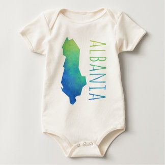 Albania Map Baby Bodysuit