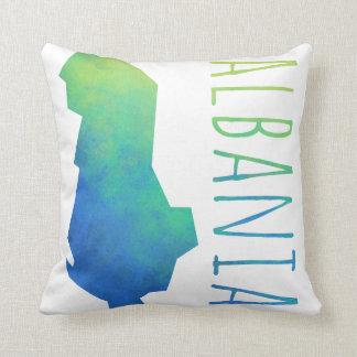 Albania Map Throw Pillow