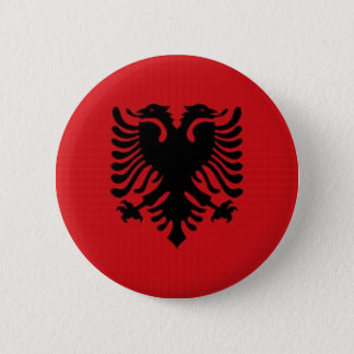 Albania National Flag 2 Inch Round Button