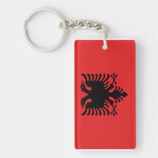 Albania National World Flag Double-Sided Rectangular Acrylic Keychain
