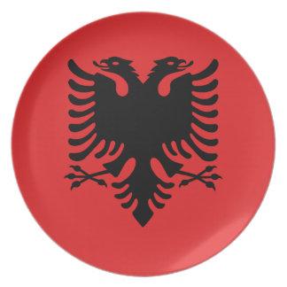 Albania National World Flag Plate