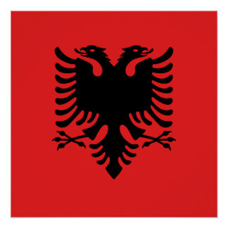 Albania National World Flag Poster