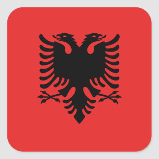 Albania National World Flag Square Sticker