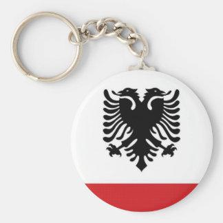 Albania Naval Ensign Basic Round Button Keychain