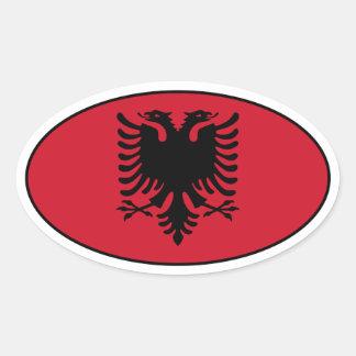 Albania Oval Flag Sticker