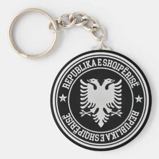Albania Round Emblem Basic Round Button Keychain