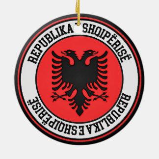 Albania Round Emblem Ceramic Ornament