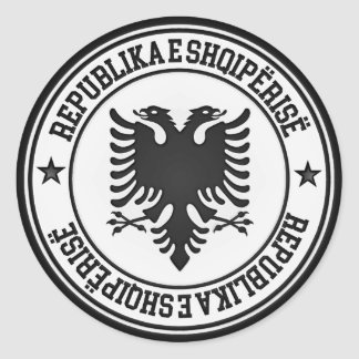 Albania Round Emblem Classic Round Sticker