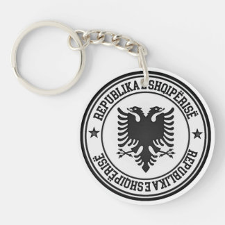 Albania Round Emblem Double-Sided Round Acrylic Keychain