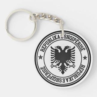 Albania Round Emblem Keychain