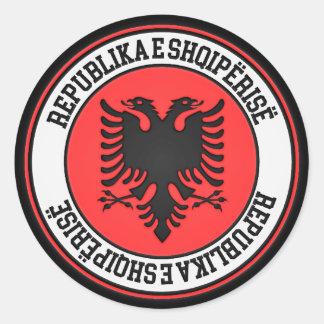 Albania Round Emblem Round Sticker