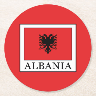 Albania Round Paper Coaster