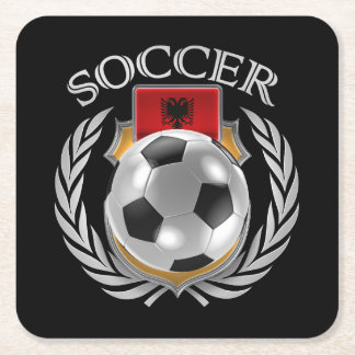 Albania Soccer 2016 Fan Gear Square Paper Coaster