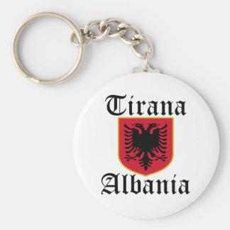 Albania Tirana Coat of Arms Keychain