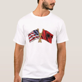 Albania USA friendship Flag T-Shirt