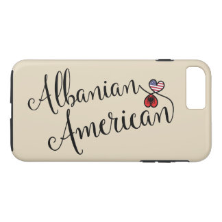Albanian American Entwined Hearts Cell Phone Case