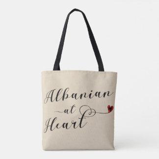 Albanian At Heart Grocery Bag, Albania Tote Bag
