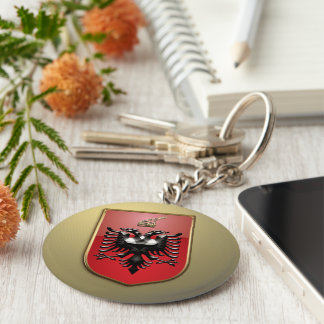 Albanian Coat of arms Basic Round Button Keychain