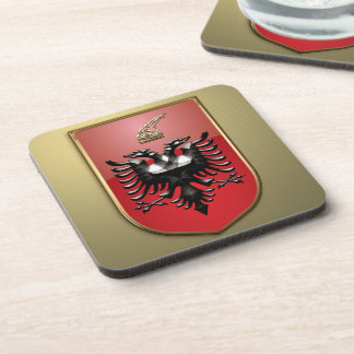 Albanian Coat of arms Beverage Coaster
