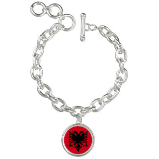 Albanian Coat of arms Charm Bracelets
