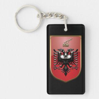 Albanian Coat of arms Double-Sided Rectangular Acrylic Keychain