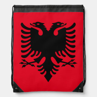 Albanian Coat of arms Drawstring Bag