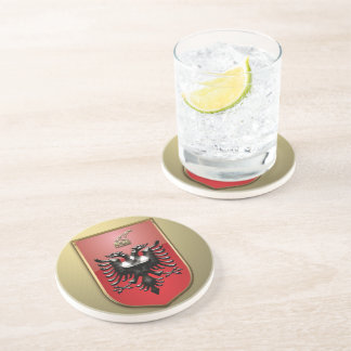 Albanian Coat of arms Drink Coaster