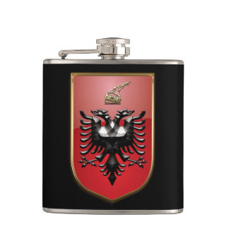 Albanian Coat of arms Hip Flask