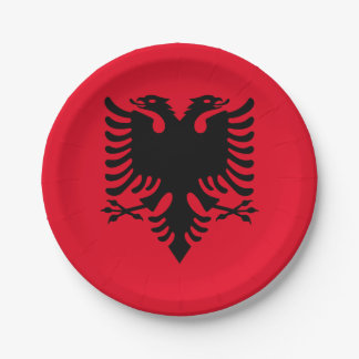 Albanian Coat of arms Paper Plate