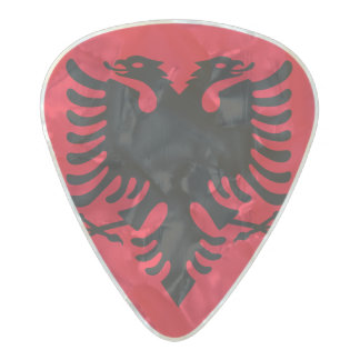 Albanian Coat of arms Pearl Celluloid Guitar Pick
