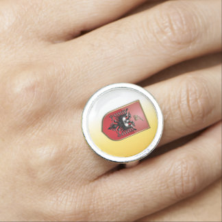 Albanian Coat of arms Photo Ring