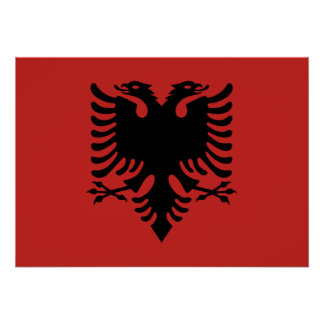 Albanian Coat of arms Poster