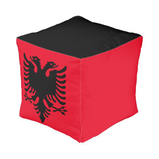 Albanian Coat of arms Pouf