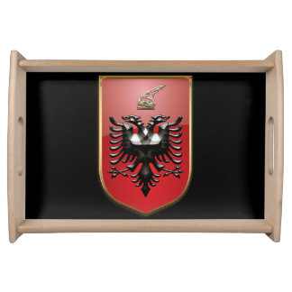 Albanian Coat of arms Serving Tray