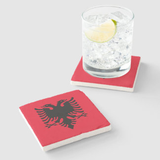 Albanian Coat of arms Stone Coaster