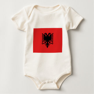 Albanian Flag Baby Bodysuit