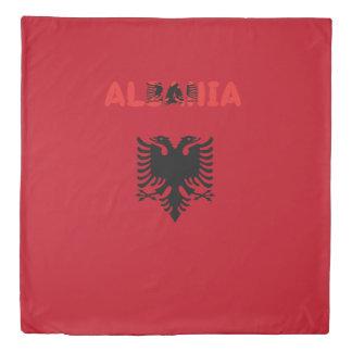 Albanian flag duvet cover