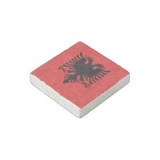 Albanian flag stone magnet