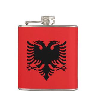 Albanian Flag Hip Flask