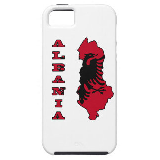 Albanian Flag in Outline Map of Albania iPhone 5 Case