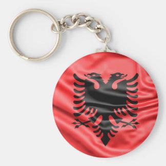 Albanian Flag Keychain