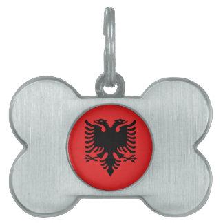 Albanian Flag Pet Tag