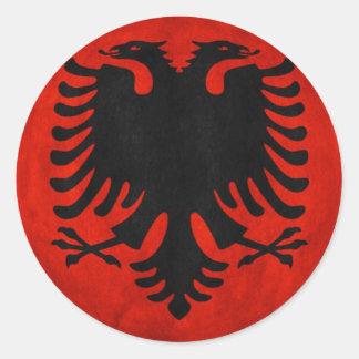 Albanian Flag Round Sticker