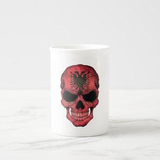 Albanian Flag Skull Bone China Mug
