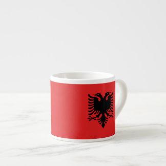 Albanian flag espresso mugs