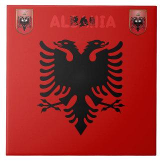Albanian flag tile